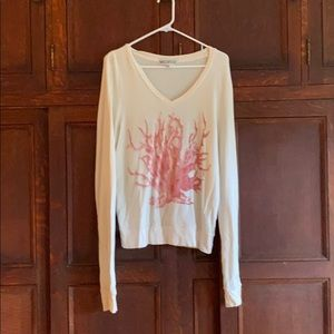 Wildfox coral NWOT BAGGY BEACH JUMPER